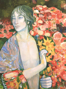 Luka with Flowers