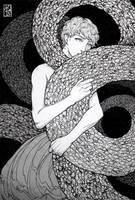 Self Comfort by driftwoodwolf