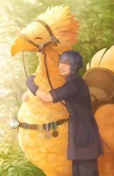 Chocobo Love! by driftwoodwolf