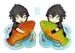 Noctis + Fish (Charm)