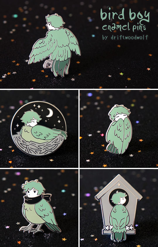 [GIVEAWAY] Bird Boy Pins