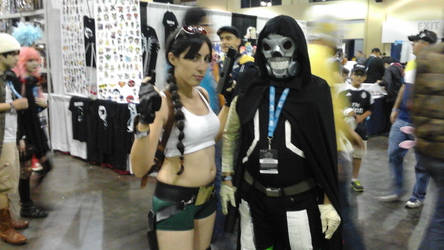 tomb raider and death gun by wolfpr