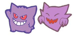 qt gengar and haunter by Hazuza