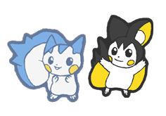 qt Pachirisu and Emonga by Hazuza