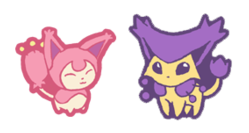 qt Skitty and Delcatty by Hazuza