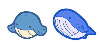 qt wailmer and wailord by Hazuza on DeviantArt Wailmer Wailord