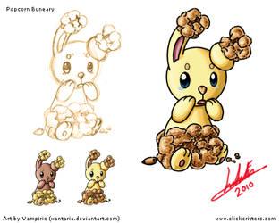 Popcorn Buneary Art Sheet by Xantaria