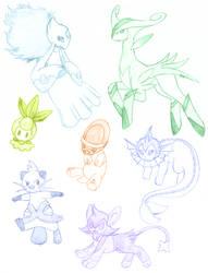 Pokemon Sketch Dump 1 by Xantaria