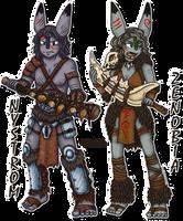 Zenobia and Nystrom by Xantaria