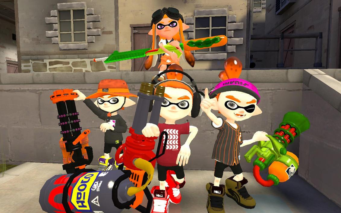 Splatling Bros. + Dark Nikki Squad by HeroDjango