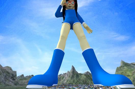 Ralticina visiting a mountain town