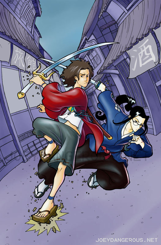 mugen and jin comparison and Minitokyo » forum » in-depth discussions » samurai champloo : who do u think fuu likes i think she loved mugen and jin for.