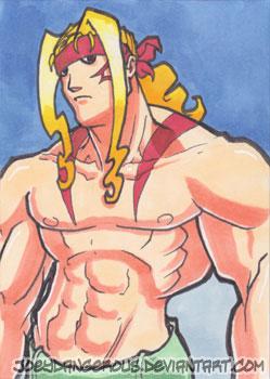 Street Fighter 3 Alex Sketch card by JoeOiii