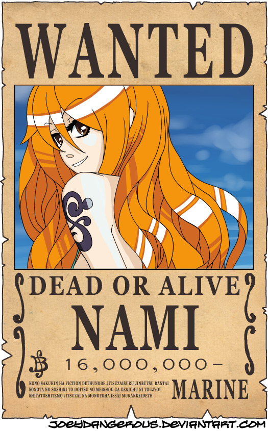 WANTED Dead or Alive - Nami by JoeyDangerous on deviantART