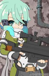 Sword Art Online II Gungale Online Shinon