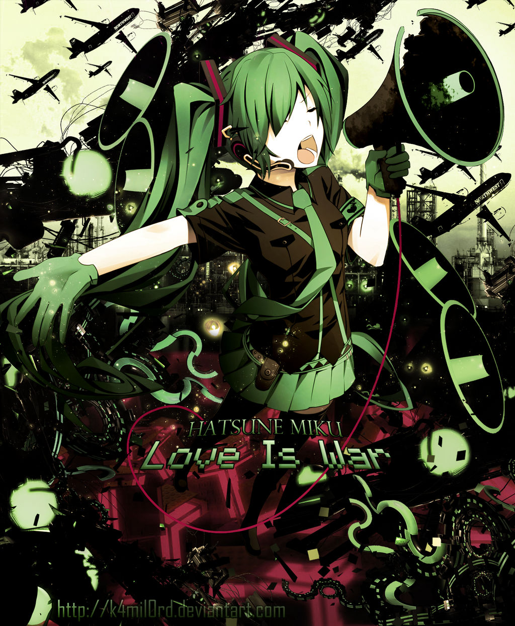 Wallpaper Hatsune Miku Love Is War 3 0 By K4mil0rd On Deviantart