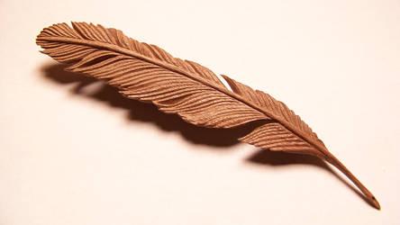 Feather in Walnut