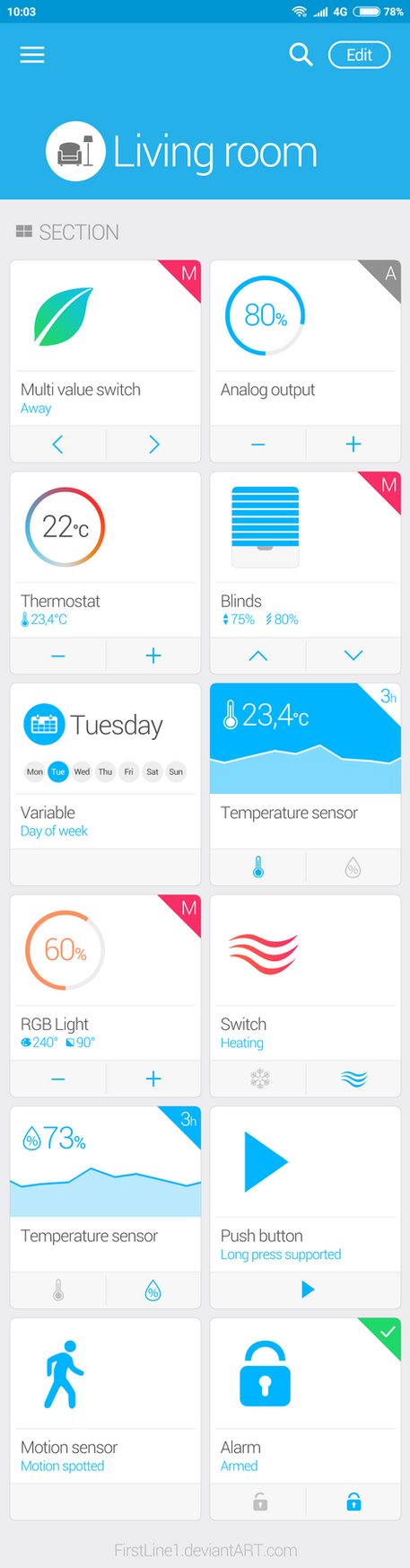 Smart Home App Design by FirstLine1