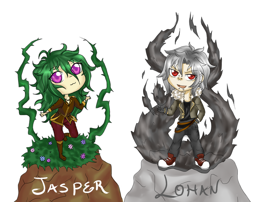 Jasper Lohan Chibis by Angel-Shinigami