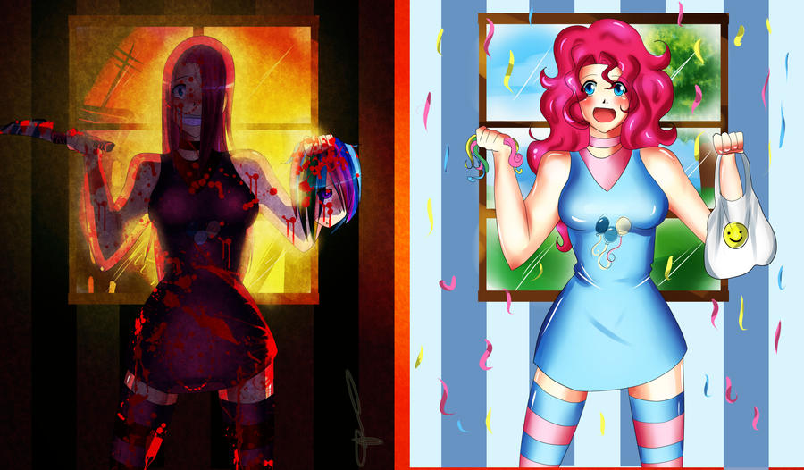 pinkiepie and pinkamena by Lezzette