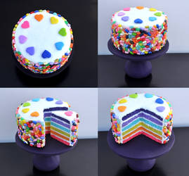 Jelly Bean Rainbow Cake 1:6 Scale
