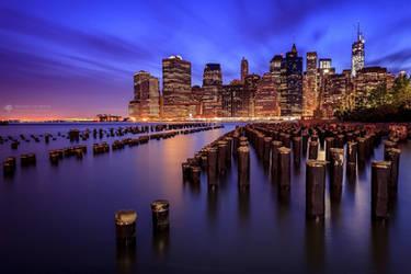 The magic lights of New York V2 by BrunoCHATARD