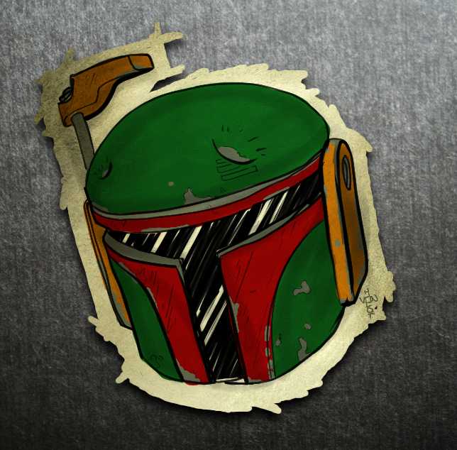 Boba Fett Helmet by vonholdt on deviantART
