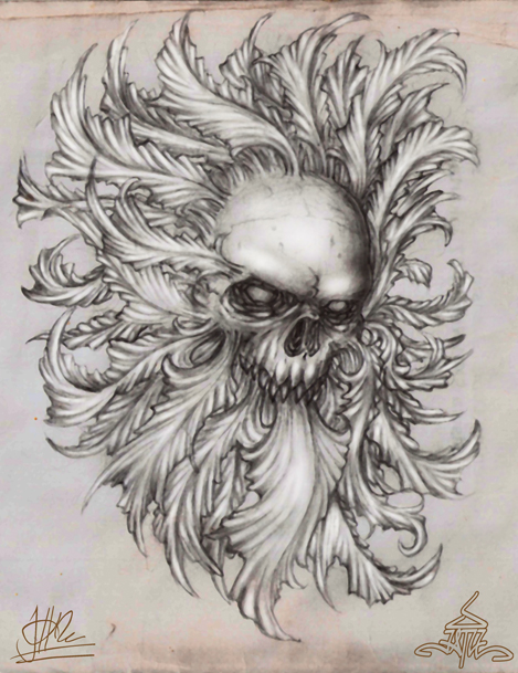skull by jatikuswara