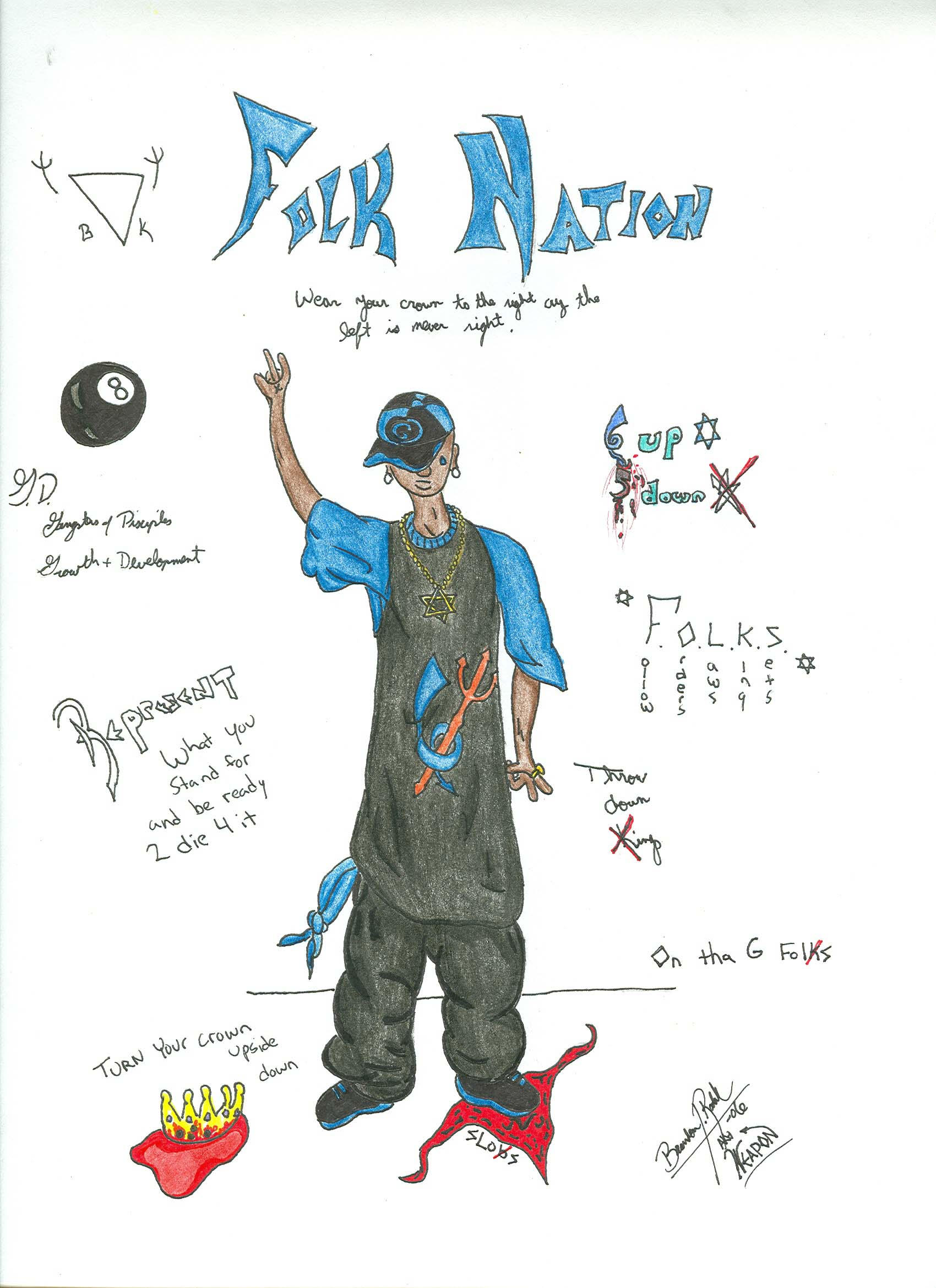 Folk nation by acld on deviantart for Gangster disciple tattoos