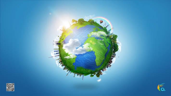 Earth globe illution