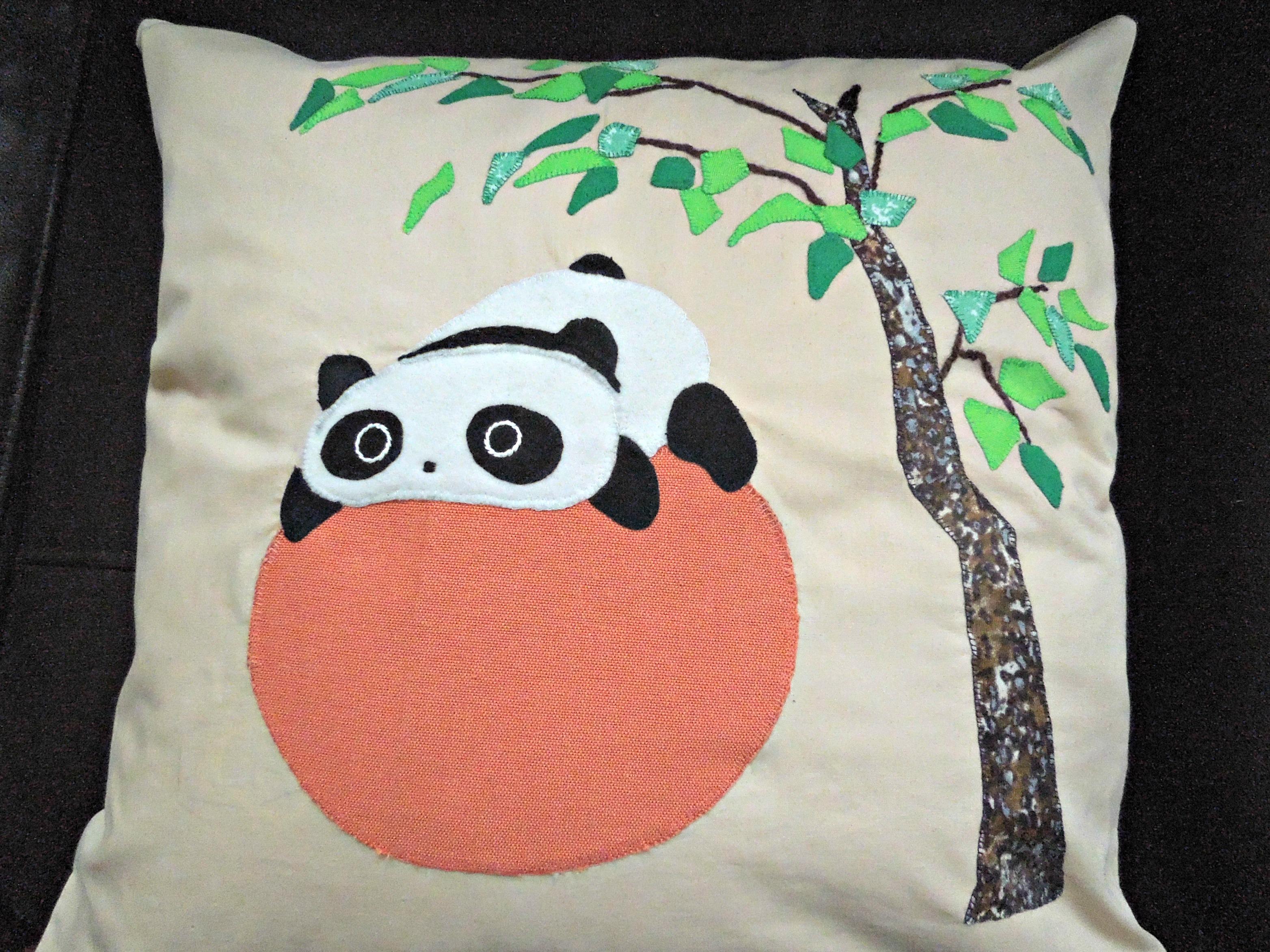 Cute Panda Pillow : Cute Panda on a Ball cushion cover by Pandalanda on DeviantArt