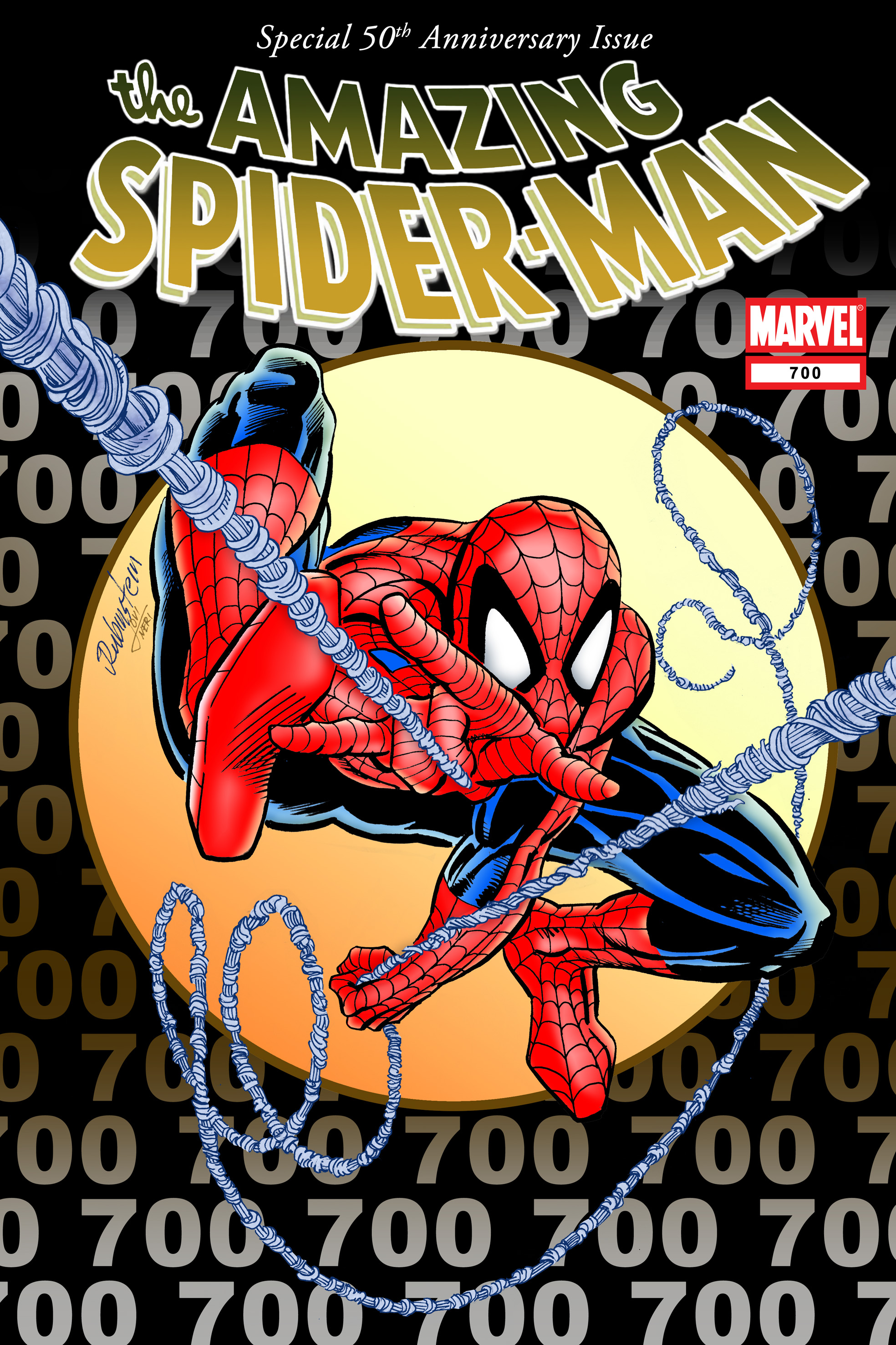 Amazing Spider-Man 700 50th Anniversary Cover by jovigolf