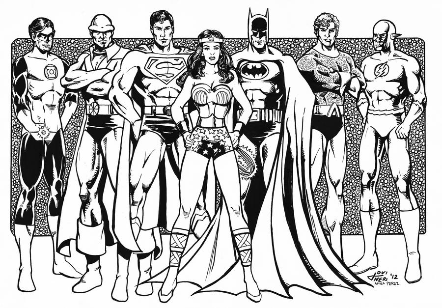 coloring pages and justice league - photo#15