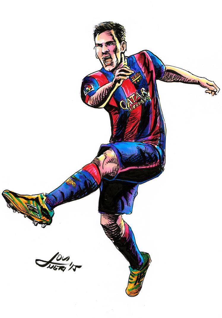 lionel leo messi football kick by jovigolf on deviantart