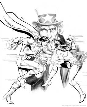 Superman Wonder Woman Uncle Sam
