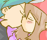 May and Drew Kiss
