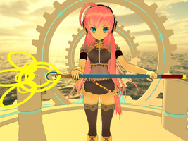Yuna's Staff MMD by Pikaripeaches