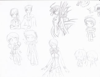FF13 x SPN sketches by Pikaripeaches