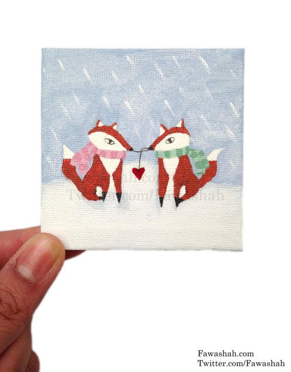 Winter Fox Love by Fawa1