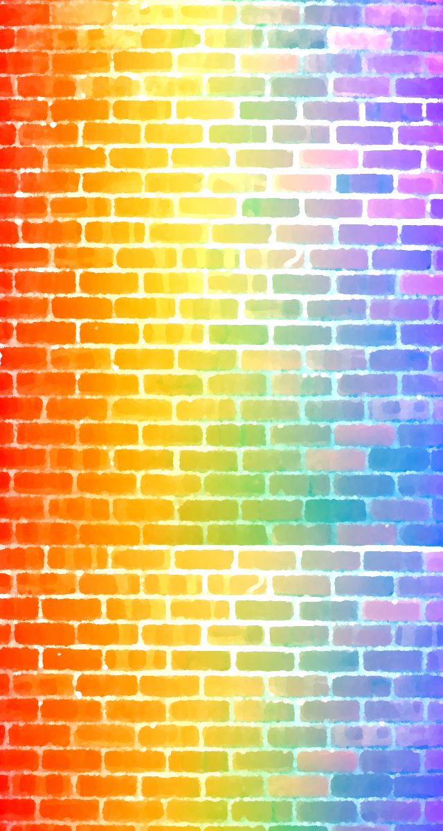 Rainbow Brick wall CustomBox bg by F-FREAK ...