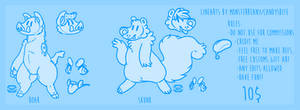 Skunky and Boar Ref Lineart DROPPED PRICE TO 200 by F-FREAK