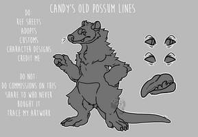 Candy's Old Opossum Lines  P2U DROPPED PRICE by F-FREAK