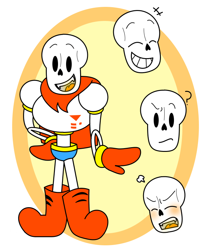 Simple Drawing Of Papyrus By GamingInGreen13 On DeviantArt