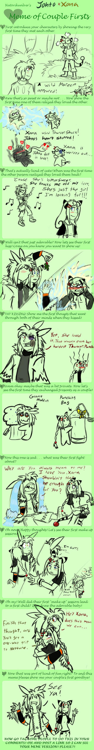 Couple Meme: Johto and Xana by Hawkfire45