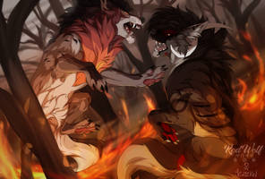 Legends Are Made from the Fire | Collab by RedWolf4844
