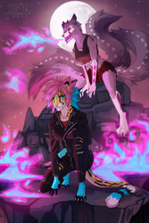 The scorching flames in the cold night |Commission