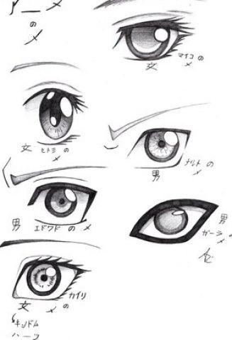 Anime Eyes by ~BeeJayKim on deviantART
