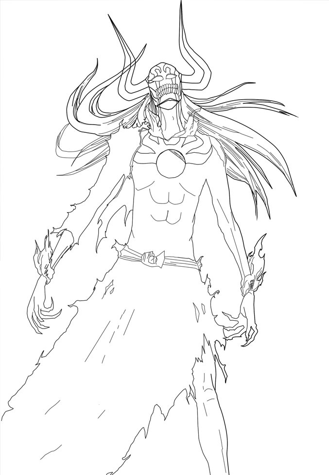 Ichigo Hollow 2 Lineart by Darka22 on DeviantArt