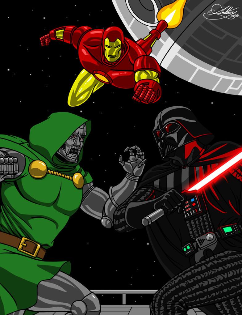Doctor Doom Vs Darth Vader in Iron Man Comic by Rocawayman