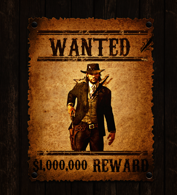 Red Dead Wanted Poster by Luigib07
